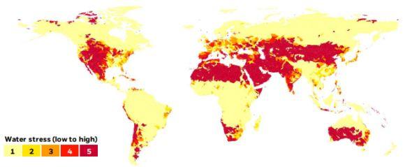 Vastgoed in landen met waterrisico's