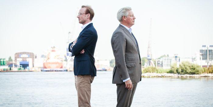 Michel Alofs van Optimix en Thomas Bunnik van Pritle