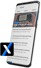 Smartphone met IEX App