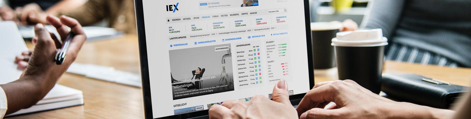 laptop met IEX Premium