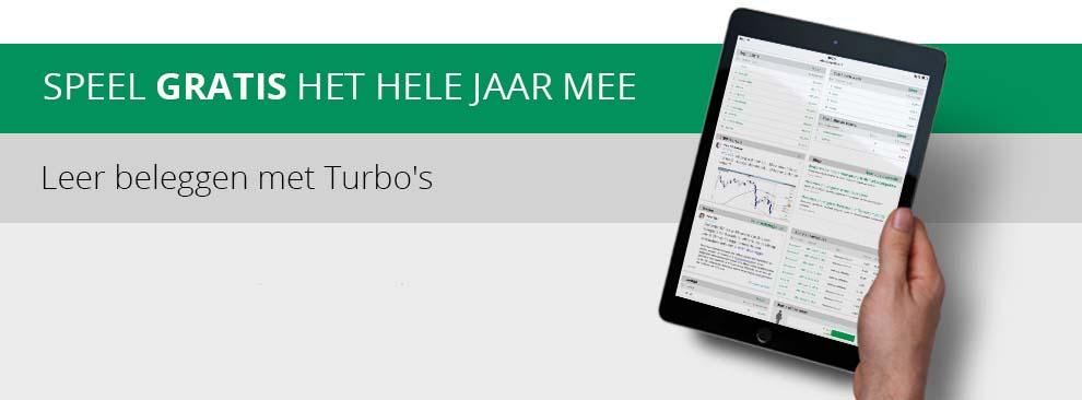 Turbocompetitie - Speel het hele jaar door gratis mee met de Slimste Belegger in de Turbocompetitie en maak kans op iPad.