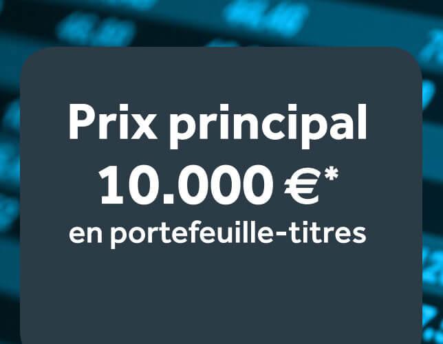 Un portefeuille-titres d'une valeur de 10.000€