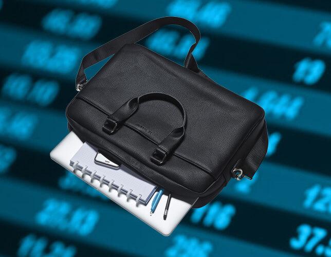 """Stijlvolle laptoptas """"Le Tanneur"""" (winkelwaarde: €125)"""