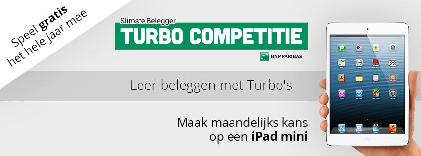 Turbocompetitie - Speel het hele jaar door gratis mee met de Slimste Belegger in de Turbocompetitie en maak kans op iPad mini.