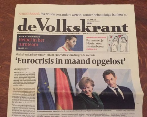 Voorpagina Volkskrant