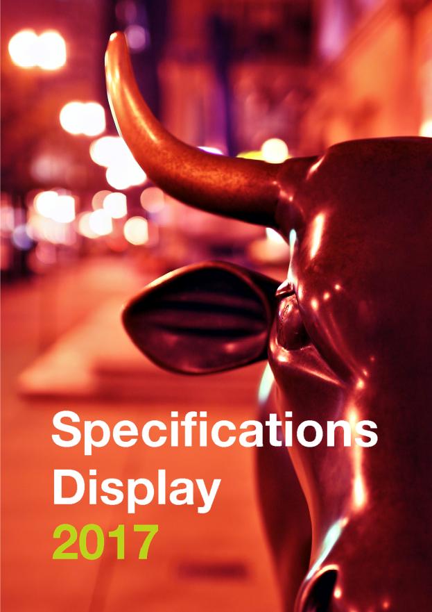 IEX aanlever specificaties diplay