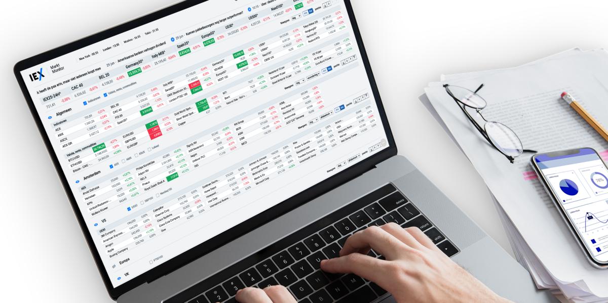 De hele markt op één koersenscherm: de nieuwe IEX Markt Monitor