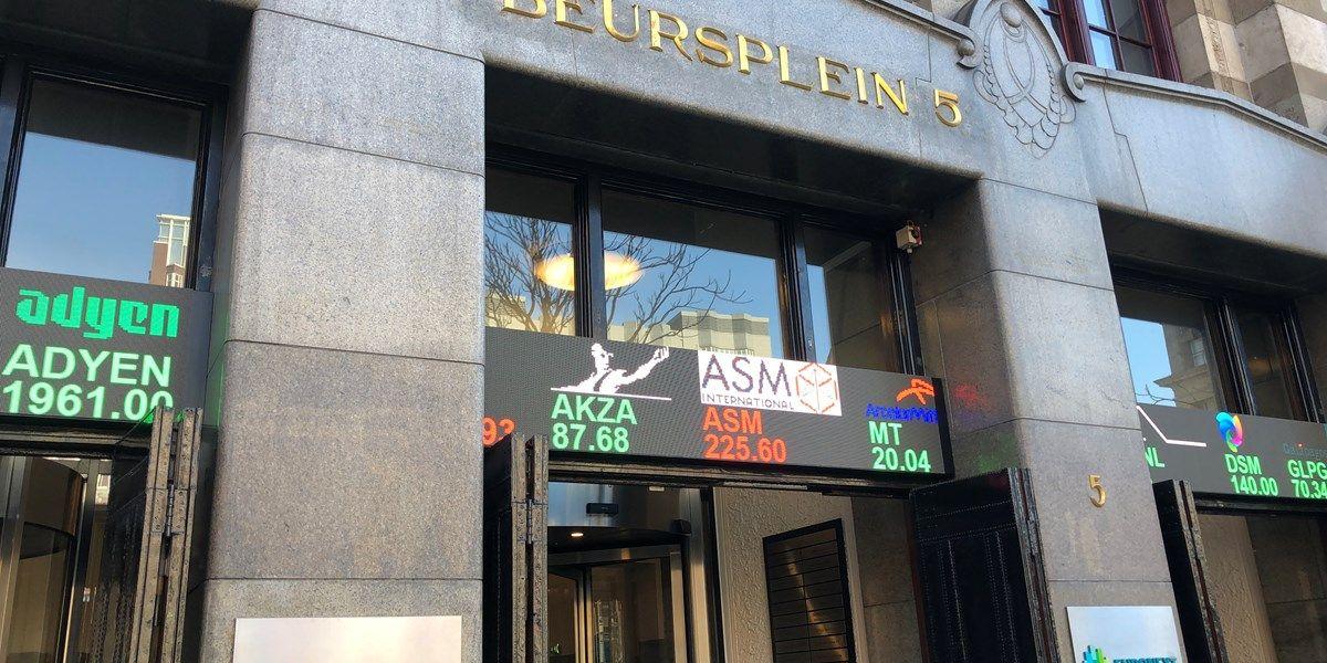 Beursupdate: KPN onderuit op groen Damrak