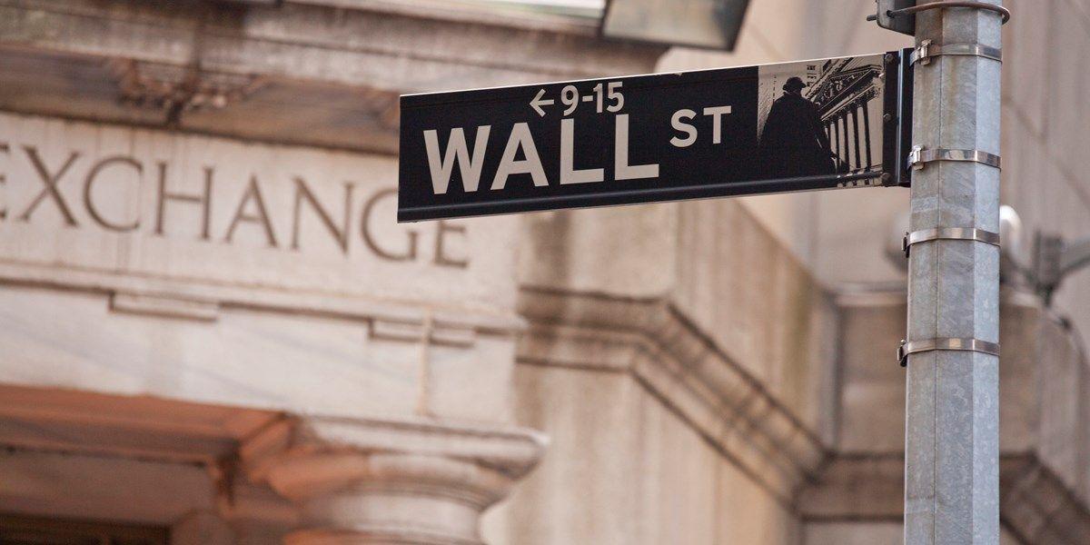 Rode koersen op Wall Street
