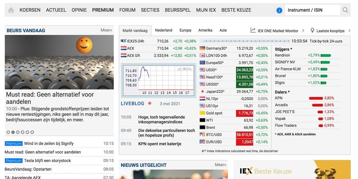 IEX presenteert jaarcijfers en kondigt nieuwe site aan