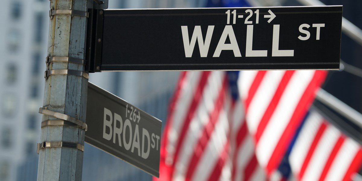 Wall Street wacht rode opening