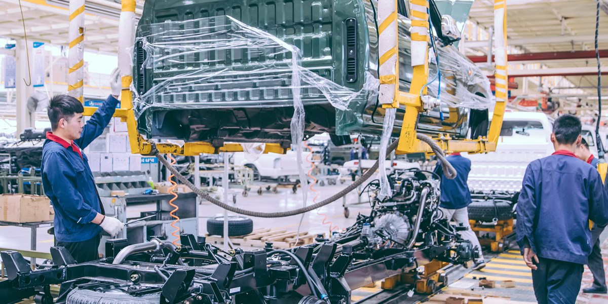 Fikse daling autoverkoop China