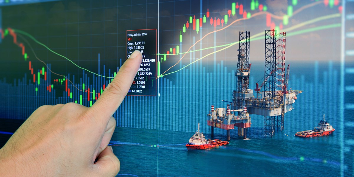 Olieprijs eindigt vlak