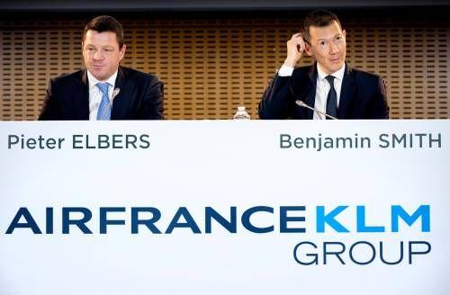 Air France-KLM in trek op groen Damrak
